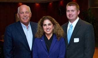 David Reimers with Jeff Fettig (CEO of Whirlpool) and Jackie Huie.