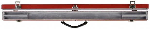 Double Bow Case Red/Silver Open