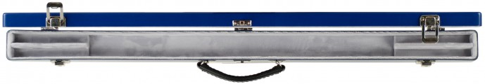 Double Bow Case Blue/Silver Open
