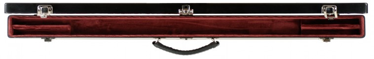 Double Bow Case Black/Red Open