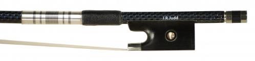 JR Judd Carbon Fiber Blue/Black Weave VN Bow Frog