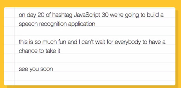 JavaScript 30 — Build 30 things with vanilla JS in 30 days with 30