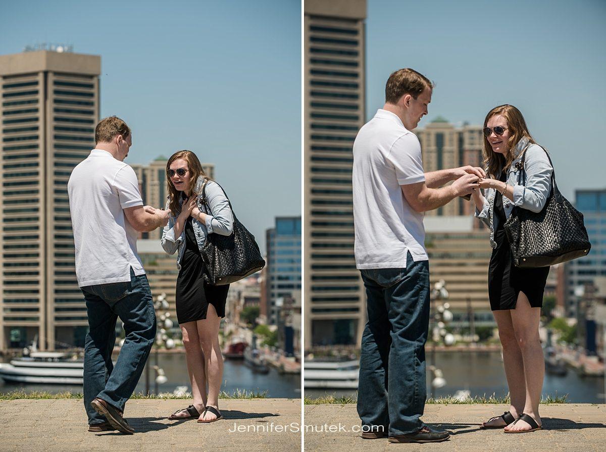 Baltimore proposal photos
