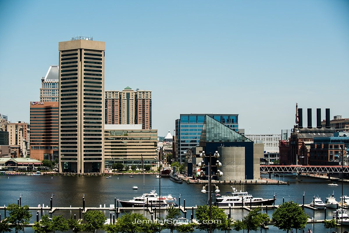 Baltimore city skyline from federal hill