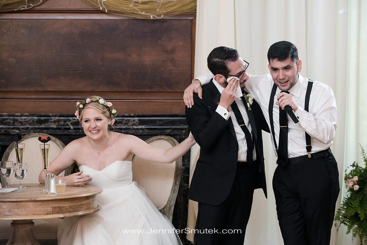 crying during wedding toast