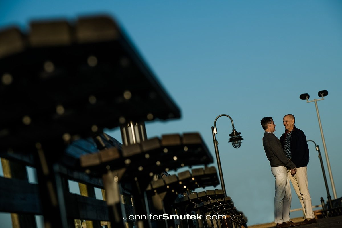 two grooms engagement session in north beach maryland