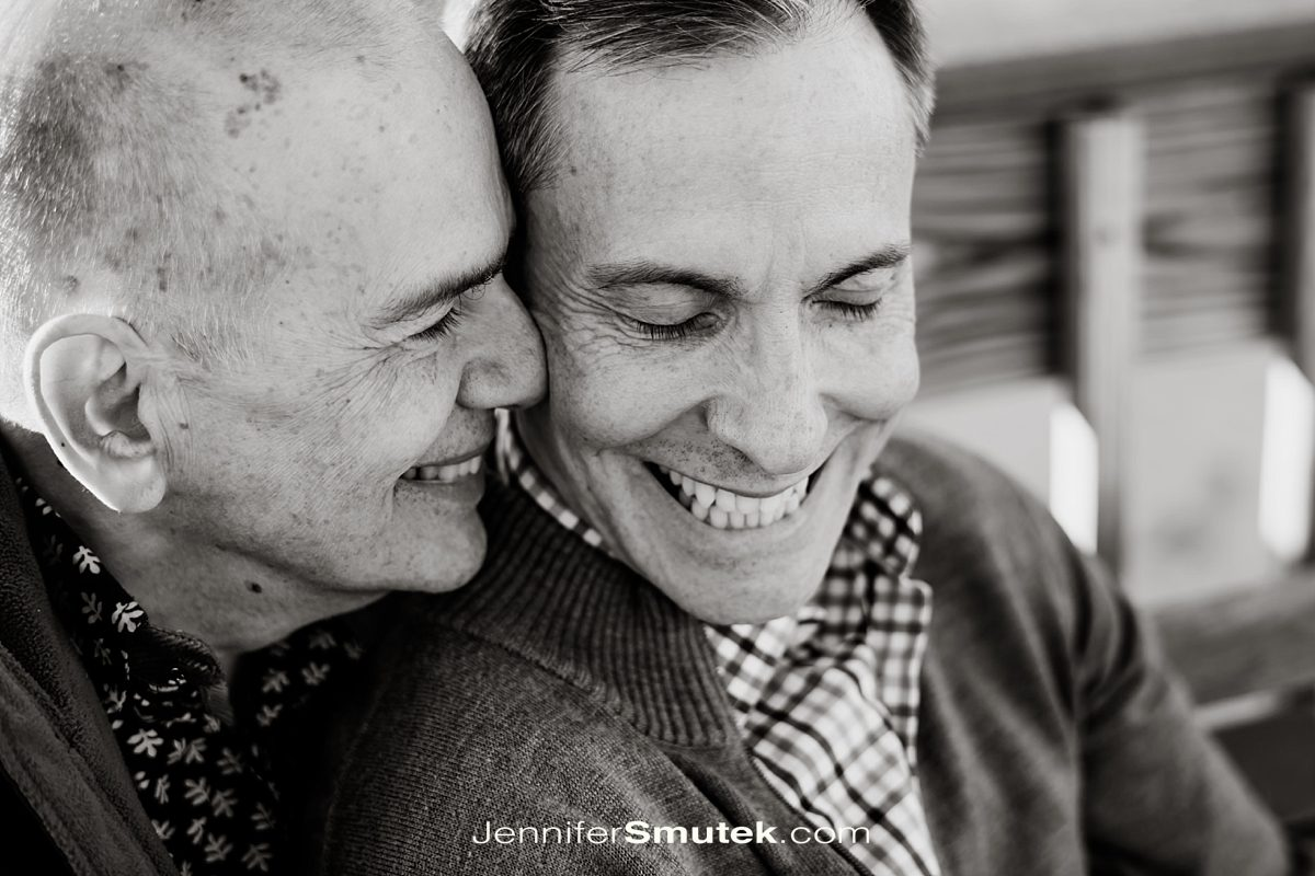 two groom engagement photo