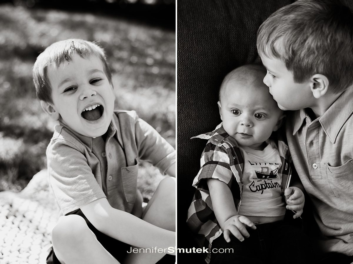 black and white photos of brothers l