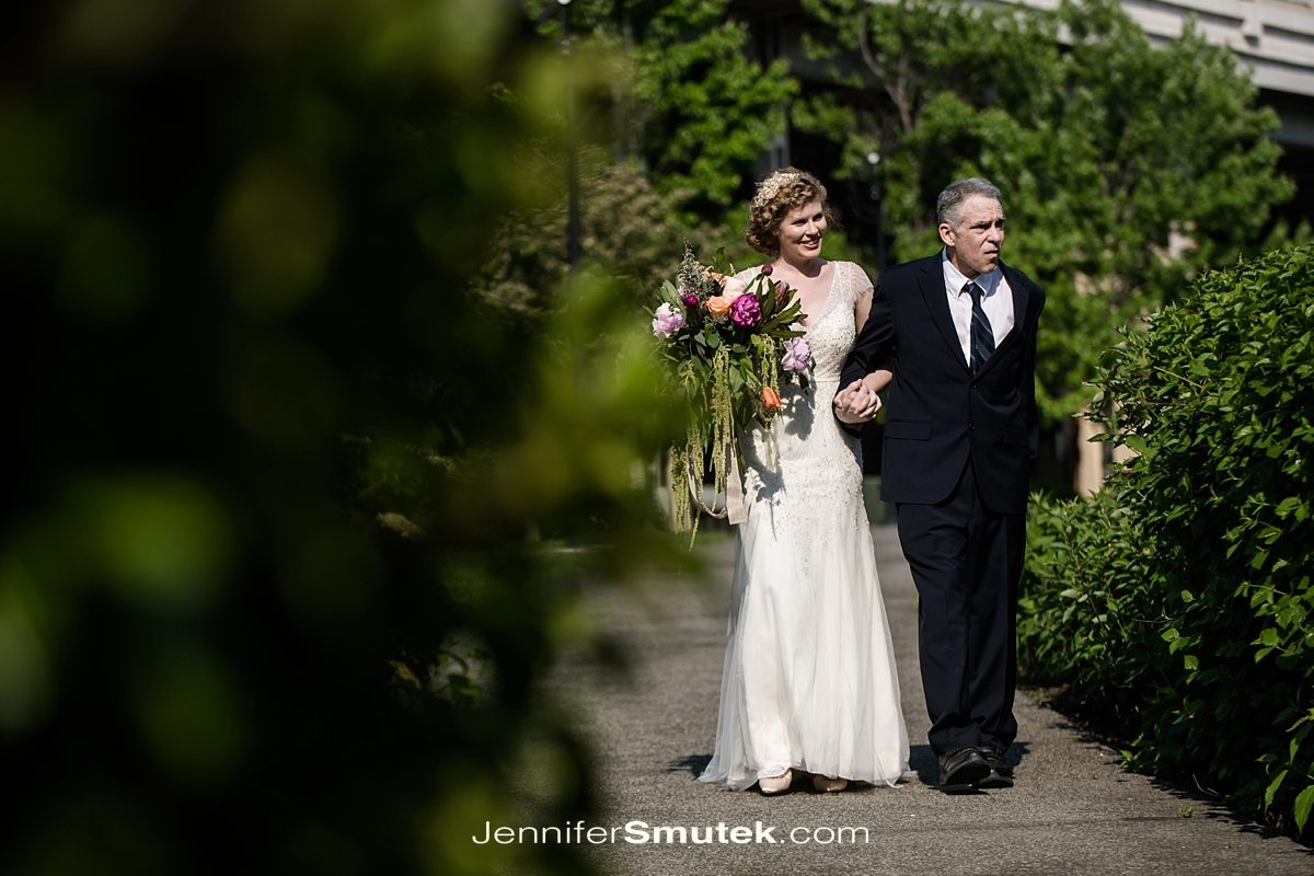step-father walking bride