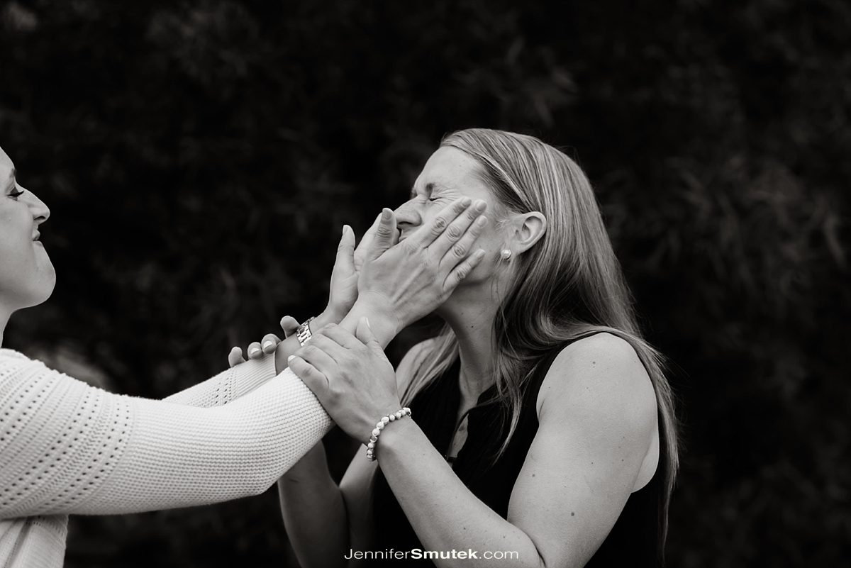 fun engagement photos at the Philip Merrill Enviornmental Center