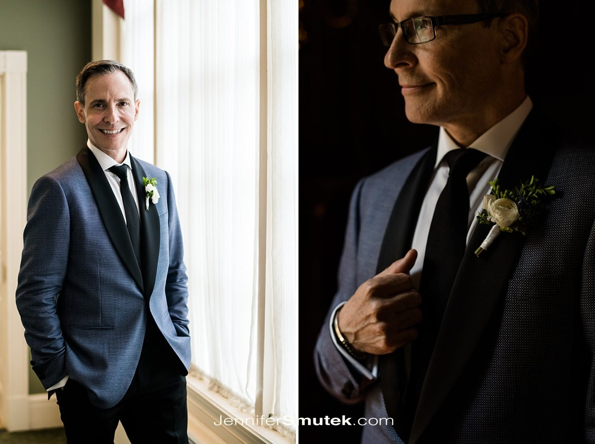 groom getting ready johns hopkins club wedding