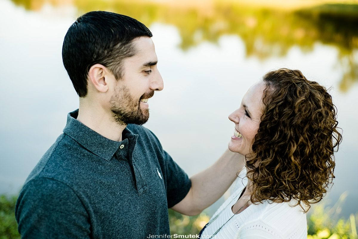 baltimore engagement session couple laughing