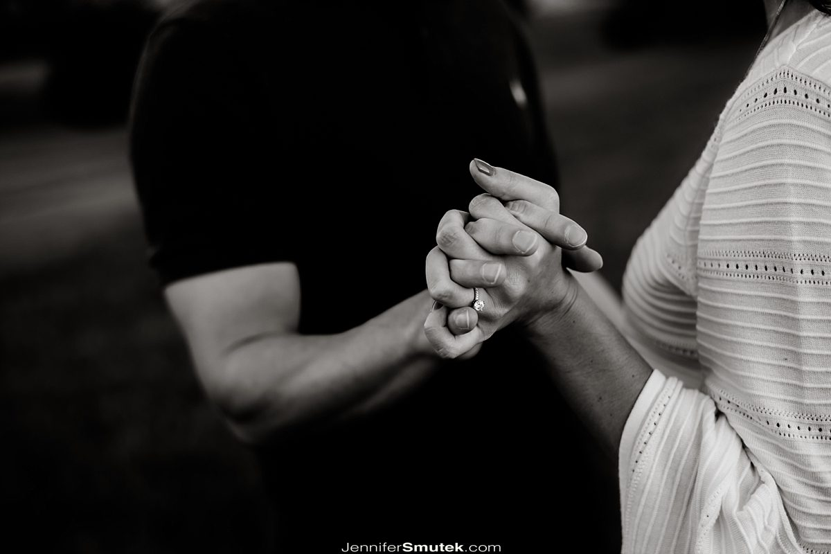 close up of a couples hands