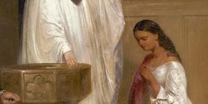 Pocahontas's baptism.