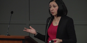 Former political prisoner, Marina Nemat, addresses the Acton Institute on November 19, 2015.