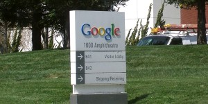 Google welcome sign via wikicommons