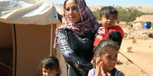 Syrian Christian refugee family (Photo credit: IsraAID)