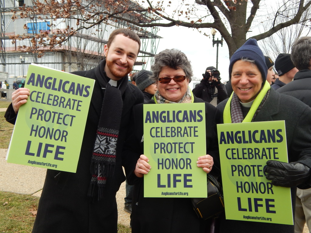 Rev. Josh Kammerer, Faith McDonnell, and Rev. Tom Herrick, March for Life 2015.