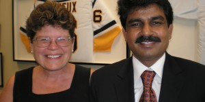Faith and Shahbaz Bhatti during one of his visits to Washington, DC