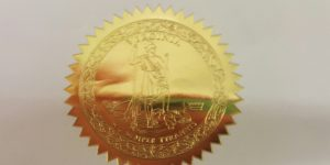 The Seal of the Commonwealth of Virginia, from the letter.