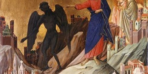 Duccio - The Temptation on the Mount Source: https://goo.gl/wJMhP0