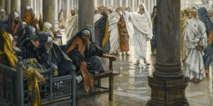 """Woe unto You, Scribes and Pharisees"" by James Tissot [Public domain], via Wikimedia Commons"