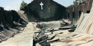 Just one of many burned churches in northern and central Nigeria (Photo credit: Sharia Unveiled)