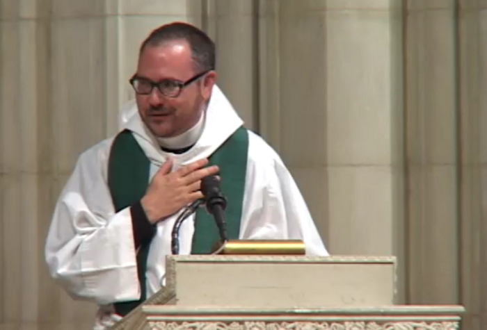 The Rev. Dr. Cameron Partridge, Episcopal Chaplain at Boston University, became the first person who identified as transgender to guest preach at the Washington National Cathedral on Sunday, June 22. (photo: Washington National Cathedral)