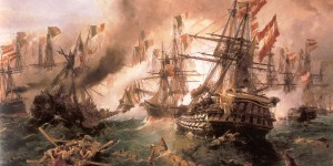 Constantine_Volanakis_Naval_battle_at_Lissa