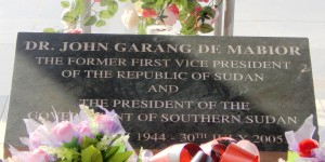 Memorial for Dr. John Garang de Mabior, the head of the SPLA/M, first President of South Sudan Regional Government. (Photo credit: Faith McDonnell0