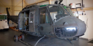 The Huey 823 in hangar. Libertywarbirds.com