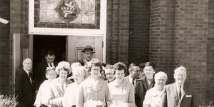 Group leaving the Paoli Methodist Church after a service in the early 1960s. (Photo: paoli-umc.com)