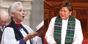 Reverend Canon Gina Campbell (left) to preside over January 25 Eucharist, becoming the first United Methodist to do so at Washington National Cathedral, Dr. Kim Cape (right) to preach. (Photos: GBHEM)