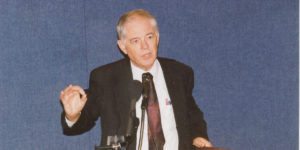 Thomas Oden speaking at the National Press Club