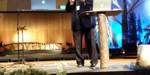 Rev. Dr. Peter Bellini addresses the conference (Photo credit: John Lomperis / IRD)