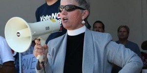 Susan Russell megaphone