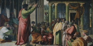 St. Paul Preaching in Athens by Raphael. Source: Wiki Commons