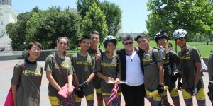 Faith McDonnell with the great kids from Ride2Freedom at U.S. Capitol (Photo credit: Fiona McDonnell)