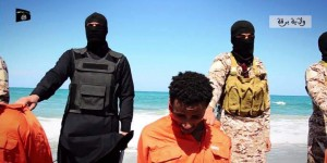 ISIS murderers and Ethiopian Christian martyrs. (Photo credit: Heavy.com)