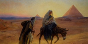 Flight Into Egypt by French artist Eugene-Alexis Girardet.