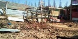 Bahri Church destroyed, but the Cross remains.