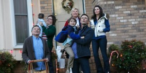 Still of Robin Williams, Candice Bergen, Clark Duke, Lauren Graham, Joel McHale and Pierce Gagnon in A Merry Friggin' Christmas.