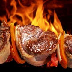 Barbecued shish kebab