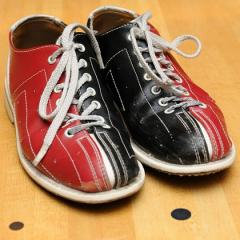 pair of bowling shoes