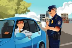Officer Writing a Traffic Ticket