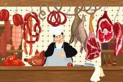 Meats in a Butcher Shop