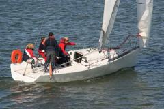 Sailing lessons on a sailboat