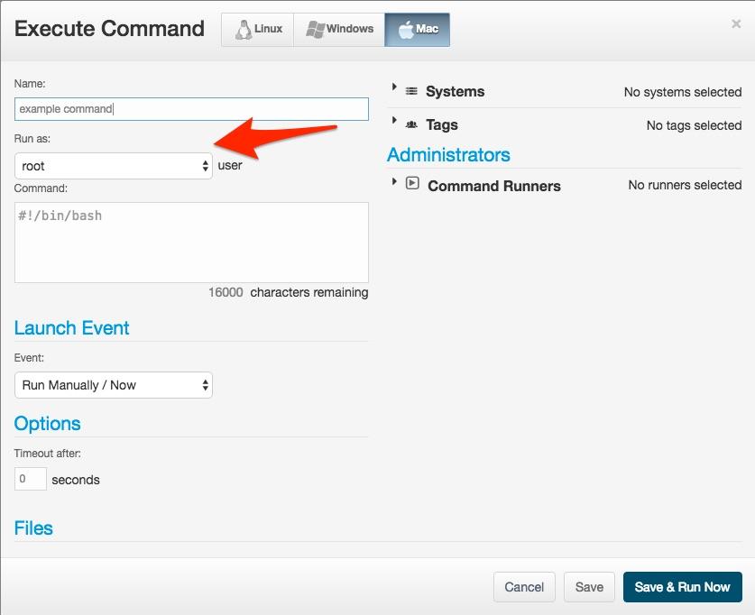JumpCloud | (Mac) Commands Tab Policy - Adding or De