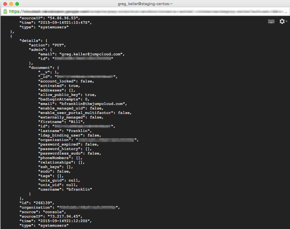 JumpCloud | JumpCloud Events API
