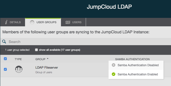 JumpCloud | Enabling Samba Support with JumpCloud LD
